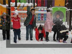 济源市实验幼儿园:雪中的童话世界  1月4日,迎来了2018年的